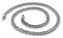"Load image into Gallery viewer, Sterling Silver 7"" Rombo Chain Bracelet - 6.5mm"