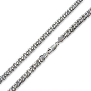 "Sterling Silver 22"" Rombo Chain Necklace - 8.0MM"