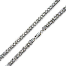 "Load image into Gallery viewer, Sterling Silver 30"" Rombo Chain Necklace - 8.0MM"