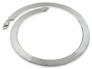 "Sterling Silver 7"" Magic Herringbone Chain Bracelet - 9.0MM"