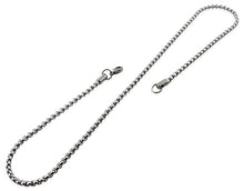 "Load image into Gallery viewer, Stainless Steel 16"" Round Box Chain Necklace 3.5 MM"