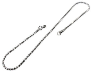 "Stainless Steel 18"" Round Box Chain Necklace 3.5 MM"