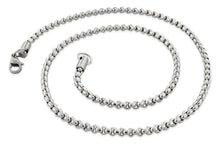 "Load image into Gallery viewer, Stainless Steel 24"" Round Box Chain Necklace 3.5 MM"