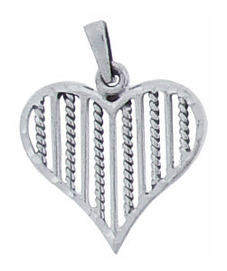 Sterling Silver Plain Heart Pendant