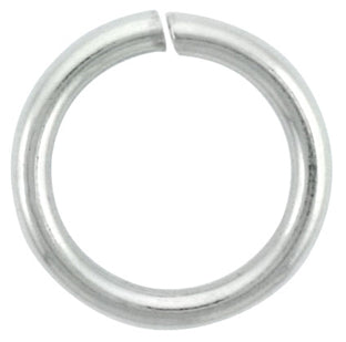 Sterling Silver Semi Hard Jump Ring 9mm - PACK OF 12