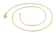 "Load image into Gallery viewer, Gold Plated Sterling Silver 18"" Forz D/C Chain 0.95MM"