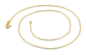 "Gold Plated Sterling Silver 18"" Forz D/C Chain 0.95MM"