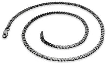 Load image into Gallery viewer, Black Rhodium Sterling Silver Curb Chain 3.0MM