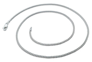 "Sterling Silver 8"" Curb Chain 2.1MM"