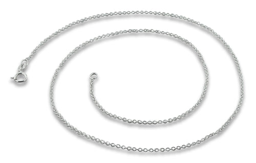 "Sterling Silver 24"" Cable Chain Necklace 1.2mm"