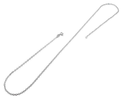 "Sterling Silver 14"" Long Cable Chain Necklace 1.7MM"