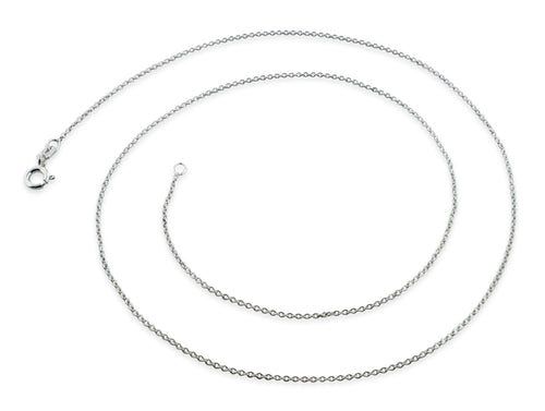 "Sterling Silver 14"" Regular Cable Chain Necklace"