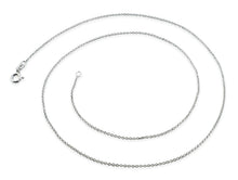 "Load image into Gallery viewer, Sterling Silver 20"" Regular Cable Chain Necklace"