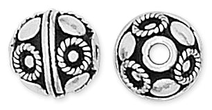 Sterling Silver Bali Style Bead 11mm
