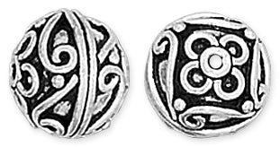 Sterling Silver Bali Style Bead 13mm