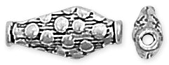 Sterling Silver Bali Style Bead 14mm