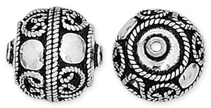 Sterling Silver Bali Style Bead 16mm