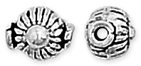Sterling Silver Bali Style Bead 8mm - Pack of 2
