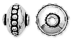Sterling Silver Bali Style Bead 9mm