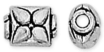 Sterling Silver Bali Style Flower Bead 8.5mm