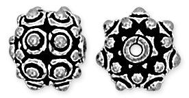 Sterling Silver Bali Style Round Bead 9mm