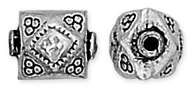 Sterling Silver Bali Style Square Bead 10mm