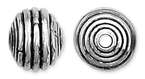 Sterling Silver Fancy Beehive Bead