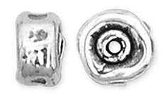 Sterling Silver Fancy Flat Round Bead