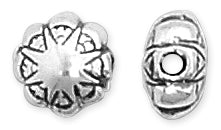 Sterling Silver Fancy Flower Bead