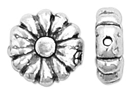 Sterling Silver Fancy Gerbera Bead