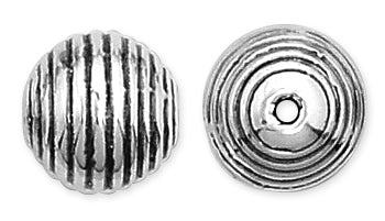 Sterling Silver Fancy Prong Round Bead