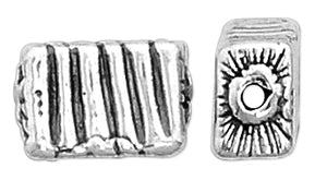 Sterling Silver Fancy Rectangle Bead
