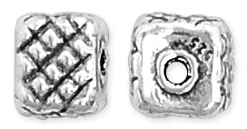 Sterling Silver Fancy Square Bead