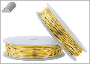 Gold Filled Wire Half Round Half Hard 22GA