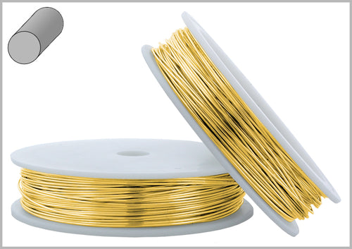 Gold Filled Wire Round Soft 22GA