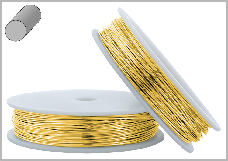 Gold Filled Wire Round Soft 28GA