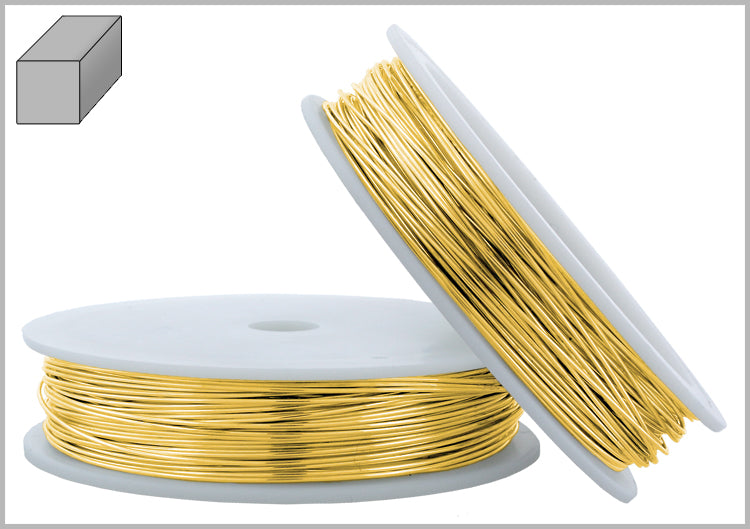 Gold Filled Wire Square Half Hard 22GA