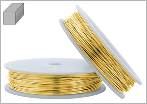 Gold Filled Wire Square Soft 22GA