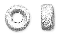 Sterling Silver Stardust Roundels 8mm - Pack of 2