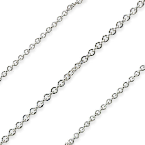 Sterling Silver Cable Chain 1.2mm (sold by the foot)