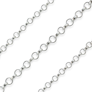 Sterling Silver Rolo Chain 1.8mm (sold by the foot)