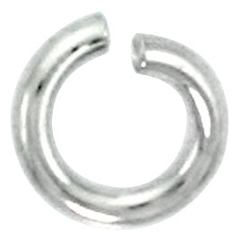Sterling Silver Semi Hard Jump Ring 5mm - PACK OF 25