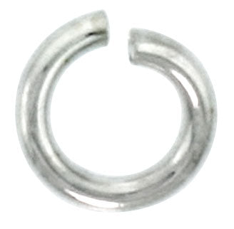 Sterling Silver Semi Hard Jump Ring 6mm - PACK OF 25