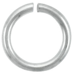 Sterling Silver Semi Hard Jump Ring 8mm - PACK OF 12