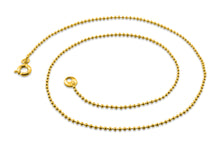 "Load image into Gallery viewer, Gold Plated 24"" Bead Chain Necklace 1.50mm"