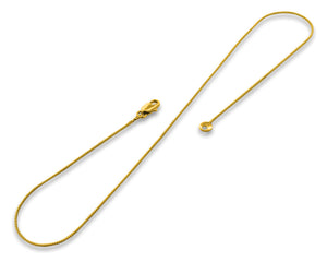 "Gold Plated 30"" Box Chain Necklace 1.0mm"