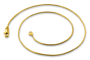"Gold Plated 24"" Snake Chain Necklace 1.13mm"