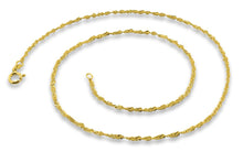 "Load image into Gallery viewer, 14K Gold Plated Sterling Silver 20"" Singapore Twist Chain 2.0MM"