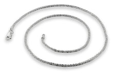 "Load image into Gallery viewer, Sterling Silver 7"" Sparkle Chain Bracelet - 1.5mm"