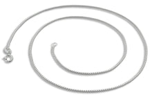 "Load image into Gallery viewer, Sterling Silver 7"" Box Chain Bracelet - 0.85MM"